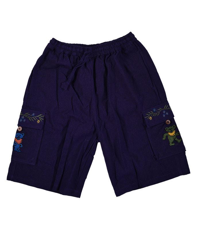 GD Bear Flower Cargo Shorts