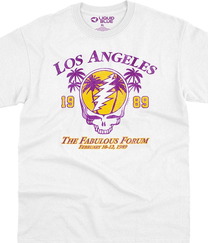 Grateful Dead LA Dead White T-Shirt Tee Liquid Blue
