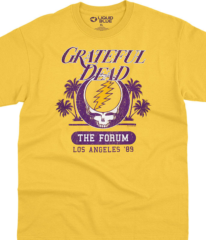Grateful Dead GD Forum Gold T-Shirt Tee Liquid Blue