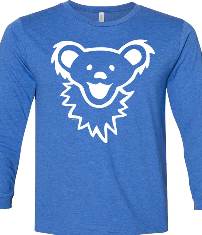 Grateful Dead Grateful Dead Dancing Bear Face Royal Youth Longsleeve Tee
