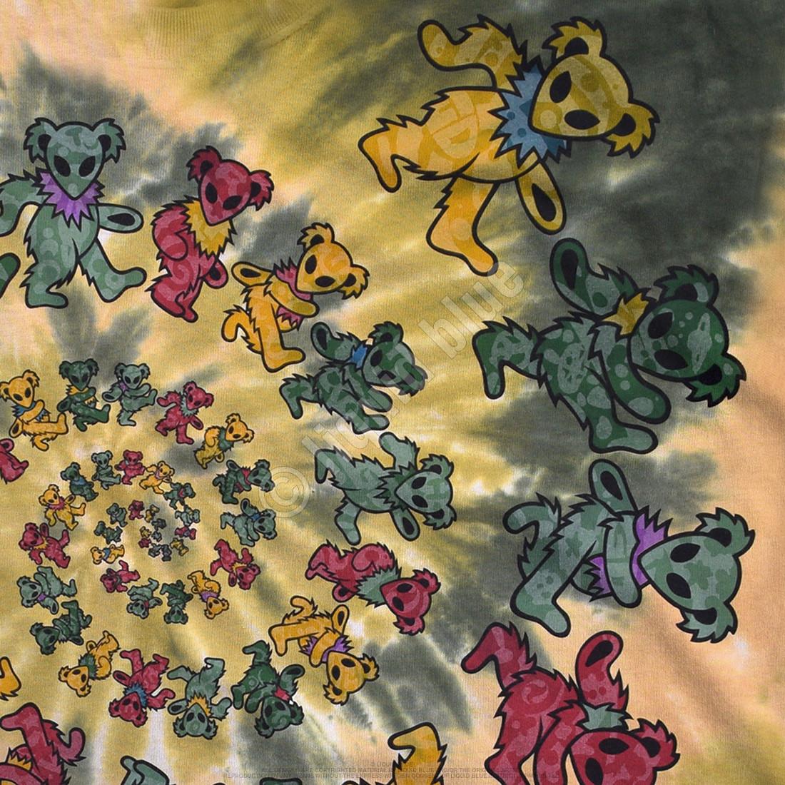 Alien Spiral Bears Tie-Dye T-Shirt