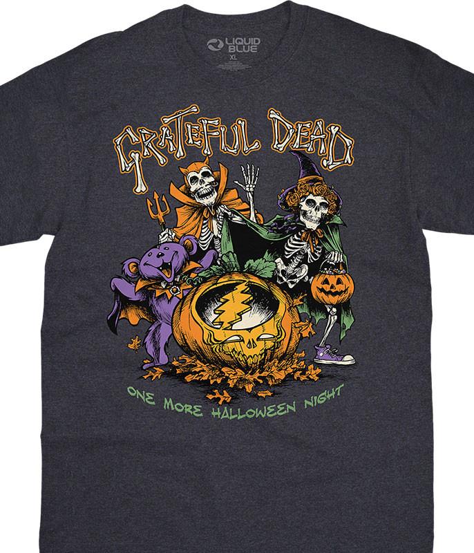 Grateful Dead Steal Your Pumpkin Dark Heather T-Shirt Tee Liquid Blue