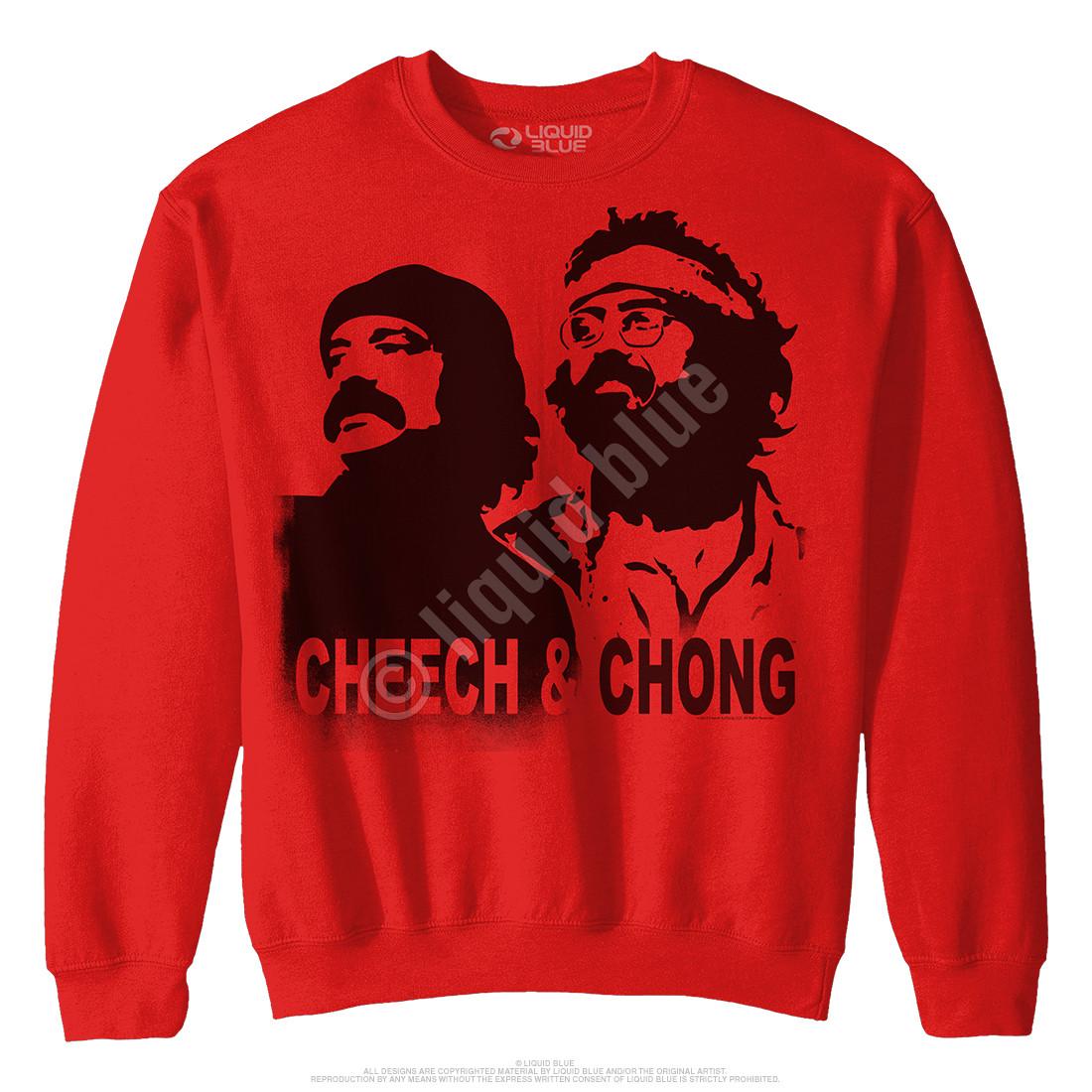 Cheech and Chong Stencil Red Sweatshirt