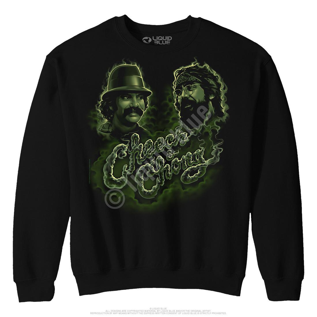 Green Smoke Black Sweatshirt