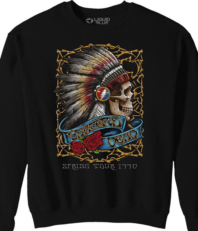 Grateful Dead Spring Tour '90 Black Sweatshirt Tee