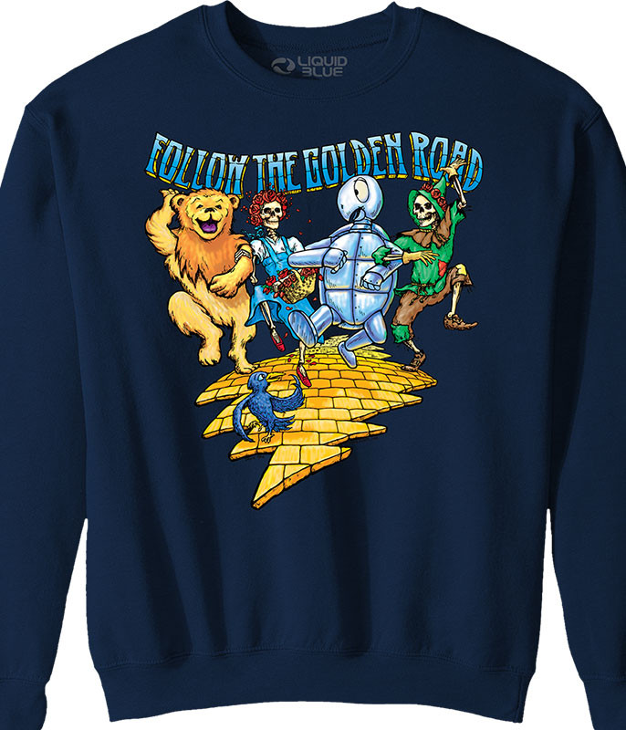 Grateful Dead Golden Road Navy Sweatshirt Tee