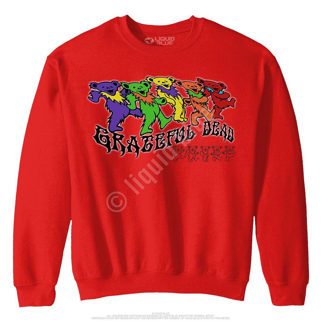 Trippy Bears Red Sweatshirt