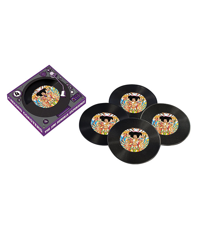 Jimi Hendrix Records Coaster Set