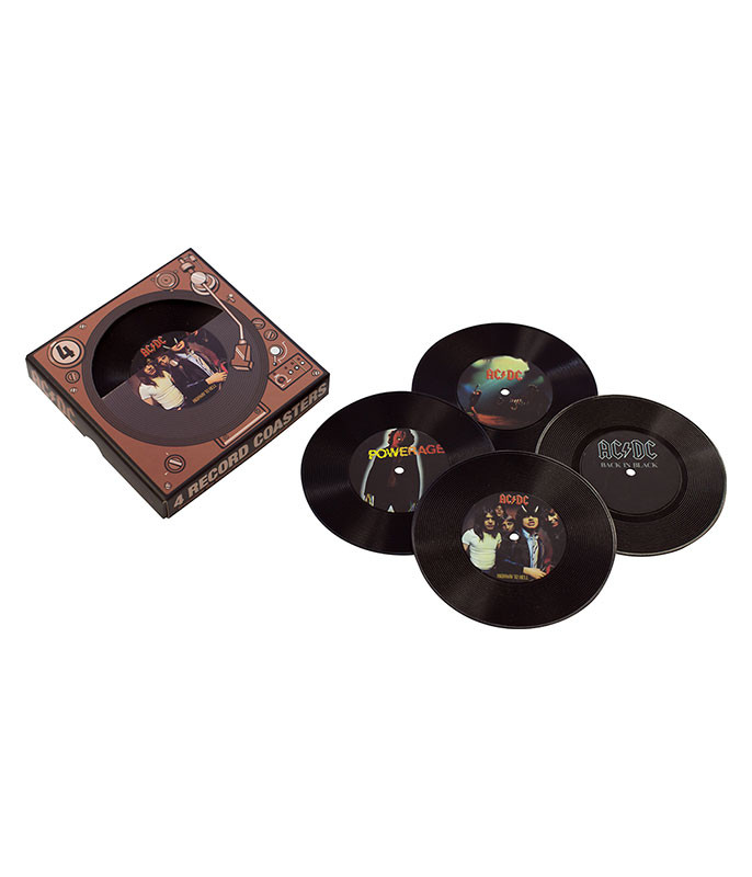 AC-DC Records Coaster Set