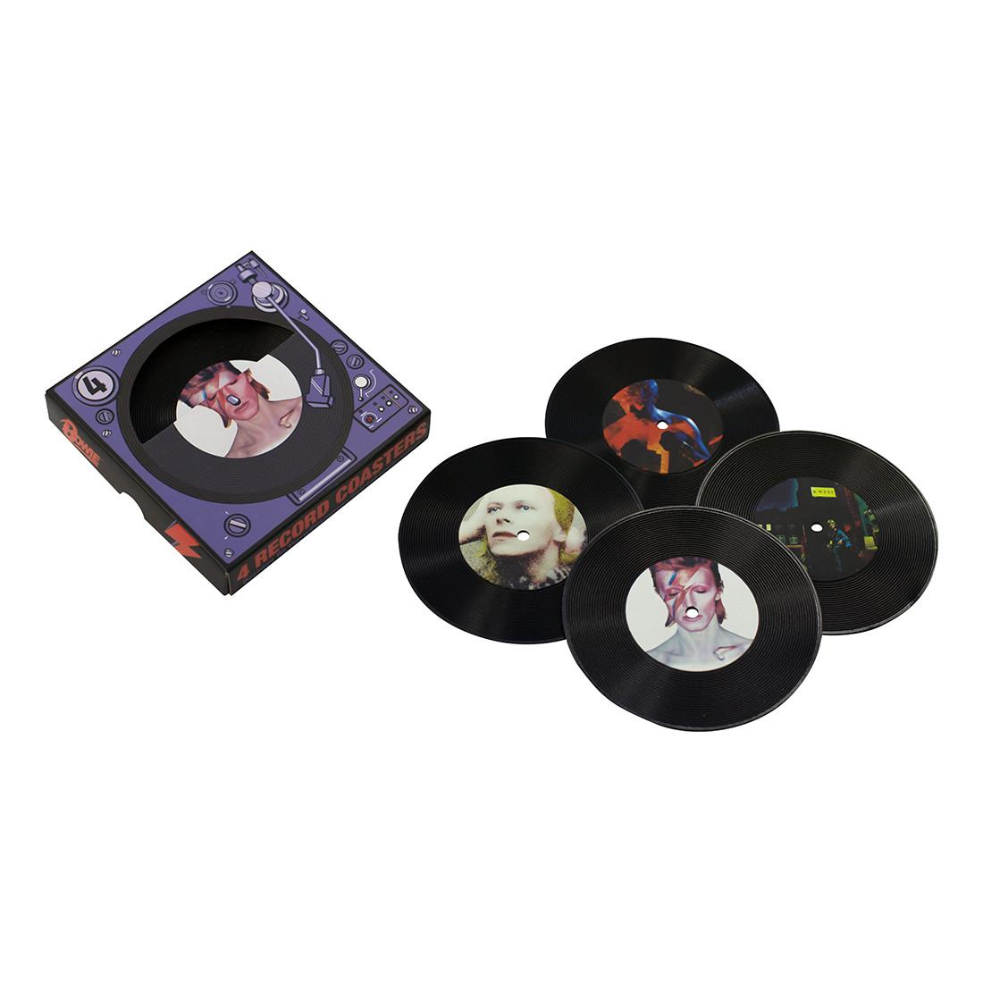 David Bowie Records Coaster Set