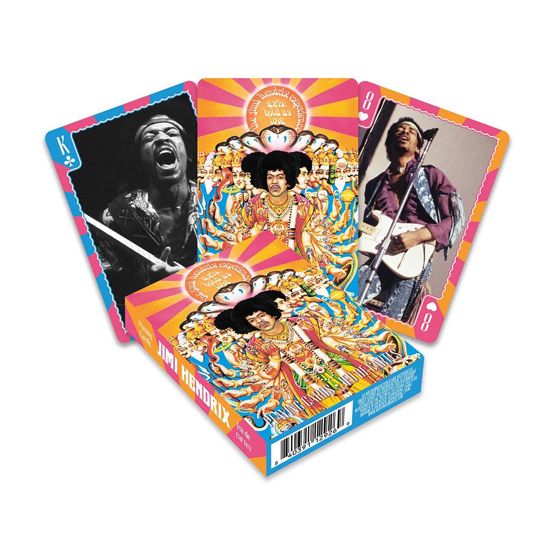 Jimi Hendrix Playing Cards