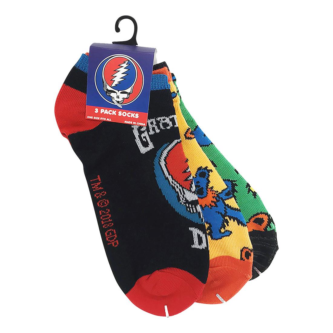 Grateful Dead 3 Pack Ankle Socks