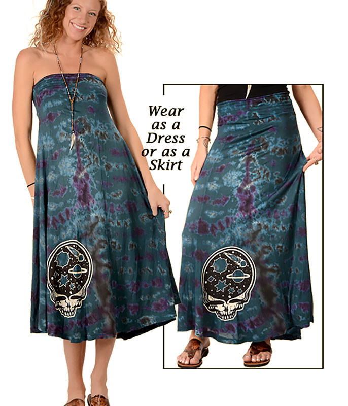 Grateful Dead Space Your Face Tie-Dye Skirt