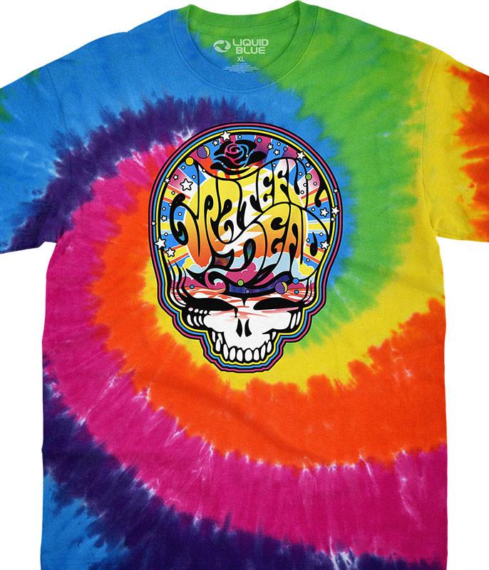 Grateful Dead Mod SYF Spiral Tie-Dye T-Shirt Tee Liquid Blue