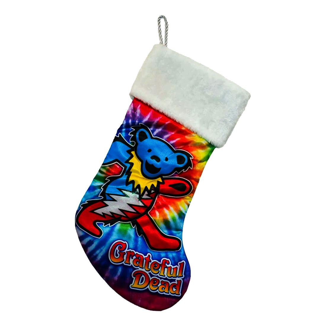 Grateful Dead Tie-Dye Bear Print Stocking