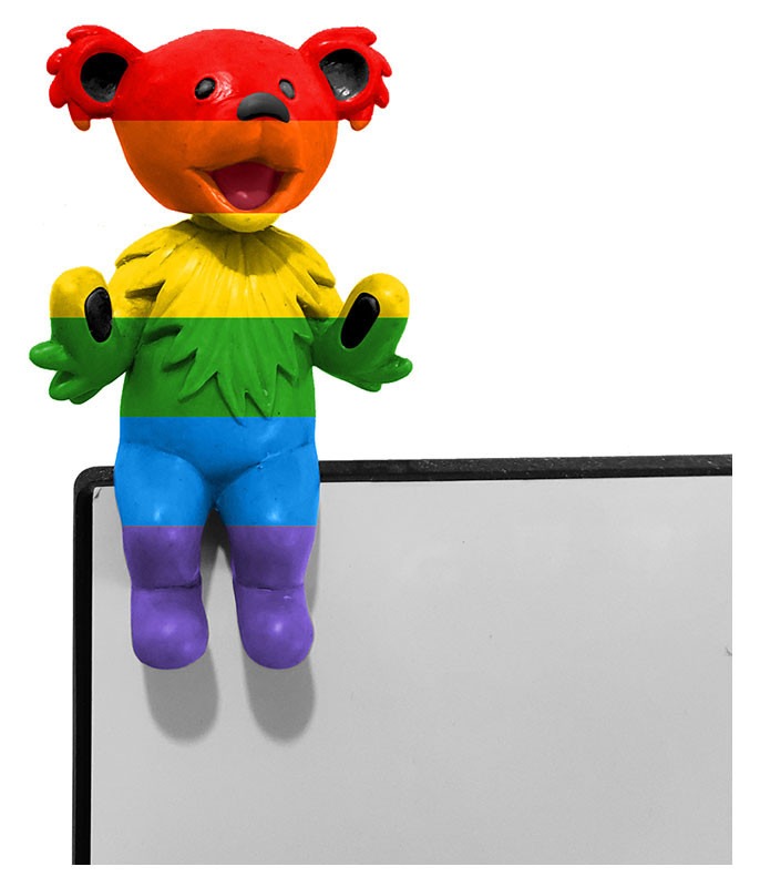 Grateful Dead Bobblehead Buddy Dancing Bear Rainbow