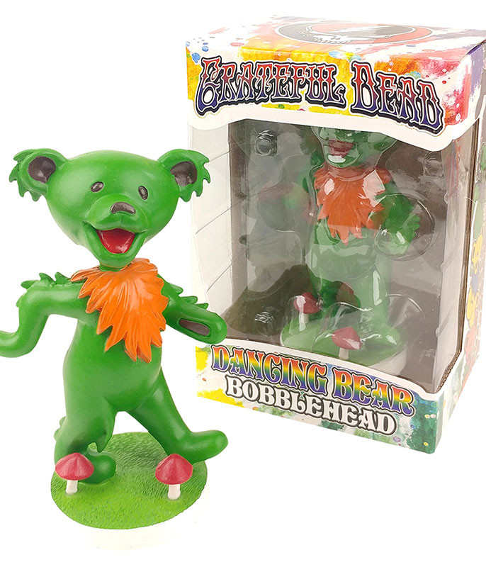 Grateful Dead Bobble Head Dancing Bear Green