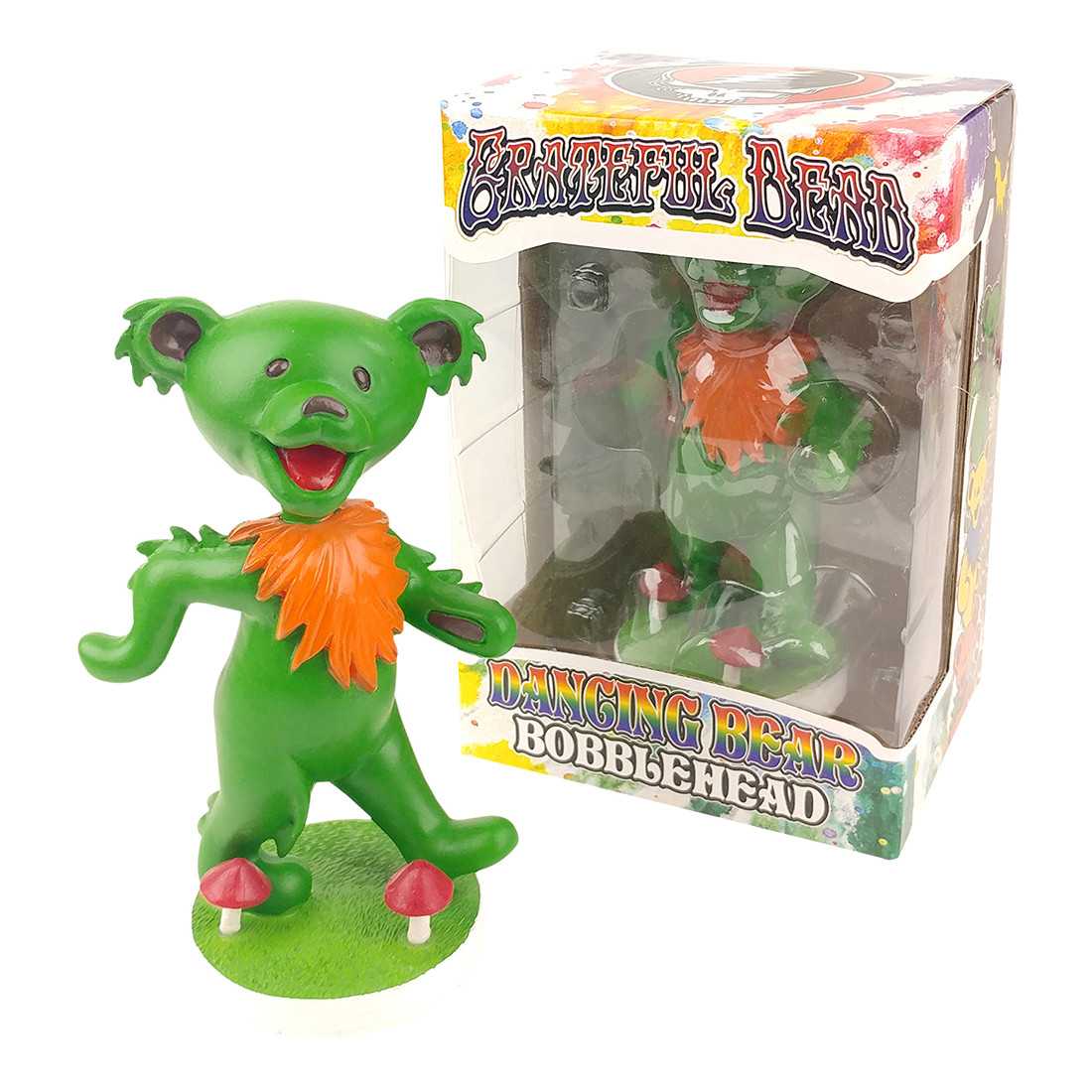GD Bobblehead Dancing Bear Green
