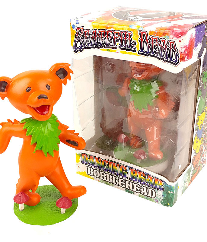 Grateful Dead Bobble Head Dancing Bear Orange
