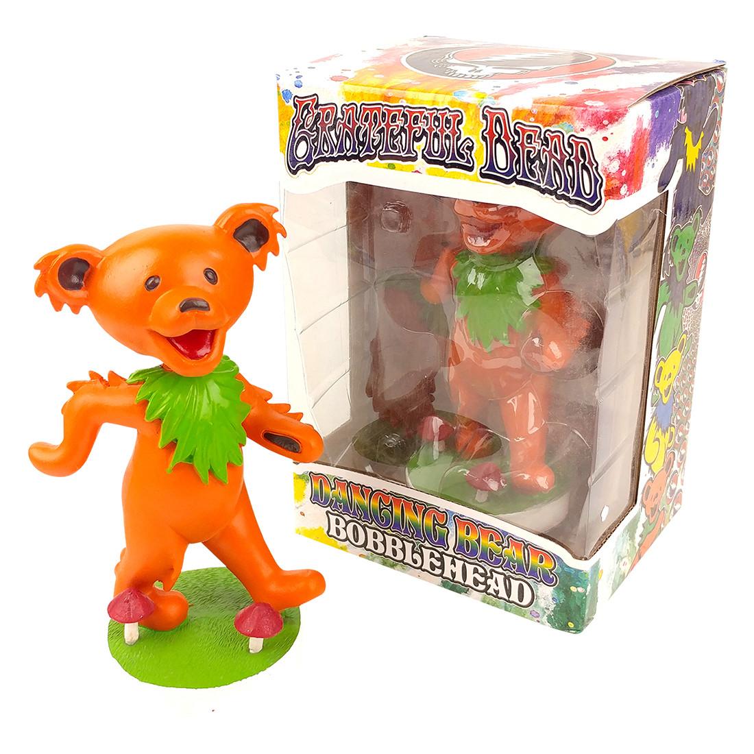 GD Bobblehead Dancing Bear Orange