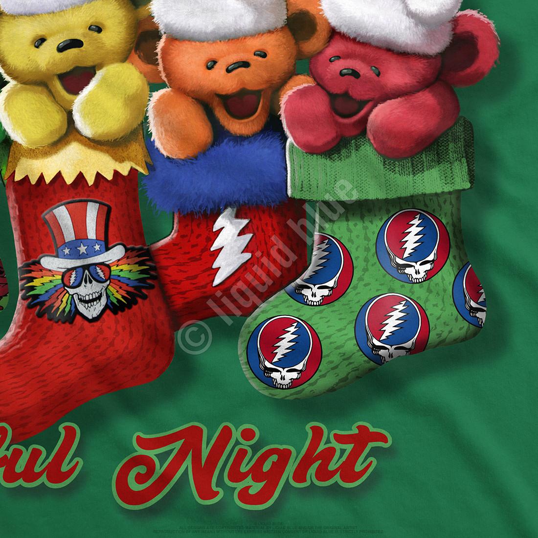 Xmas Stocking Bears Green T-Shirt