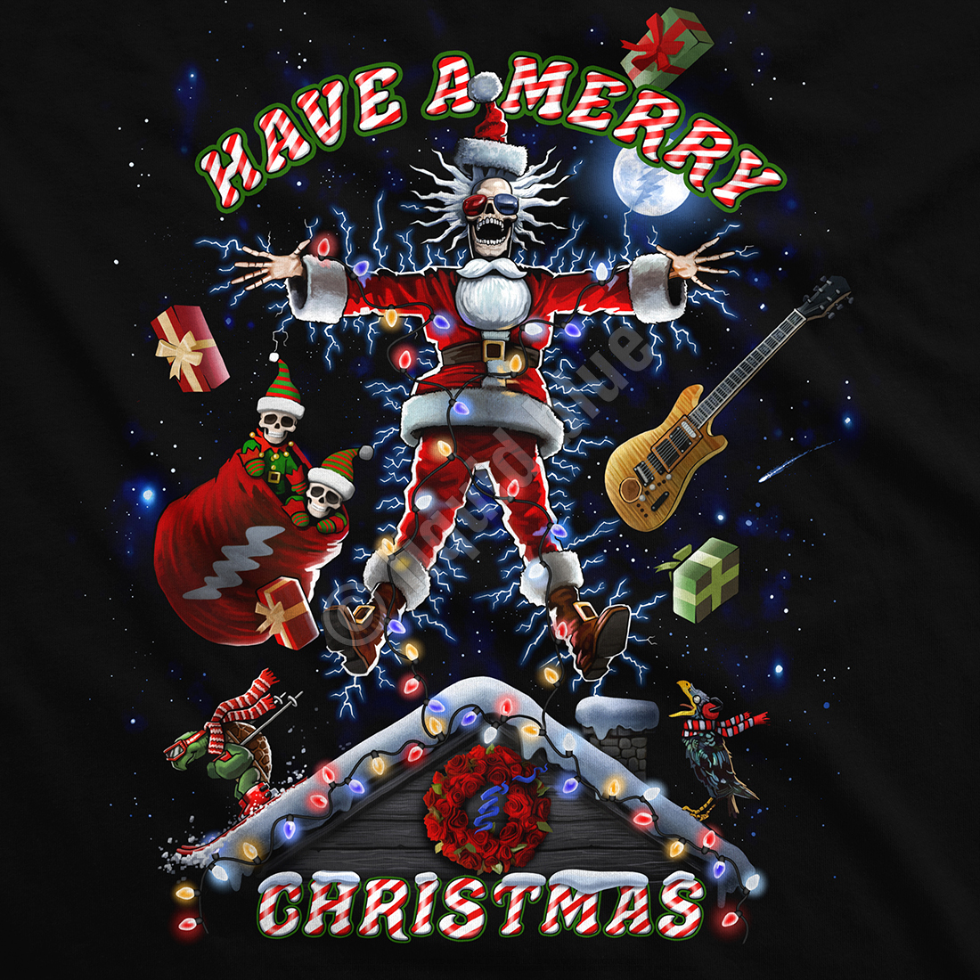 Xmas Shocker Black T-Shirt