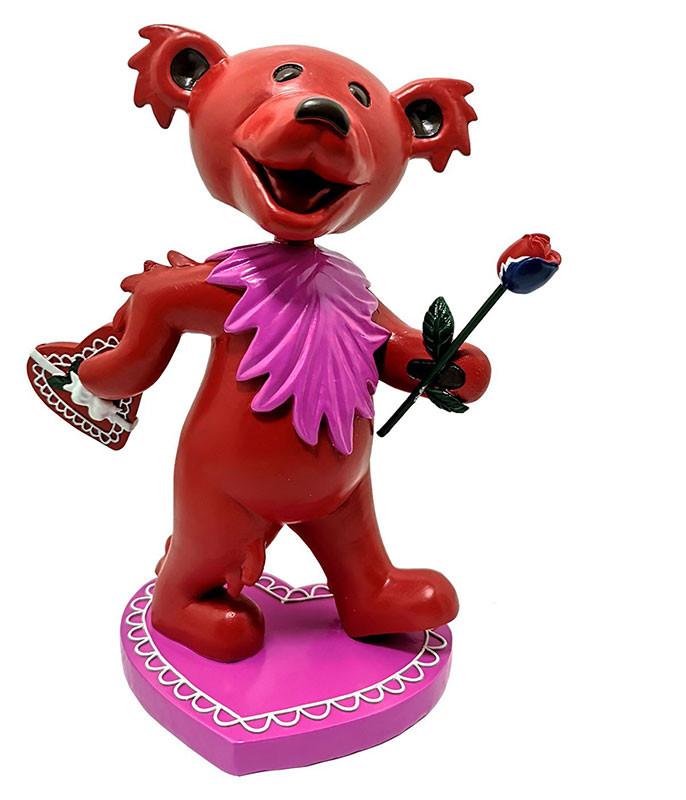 Grateful Dead Bobblehead Dancing Love Bear Red