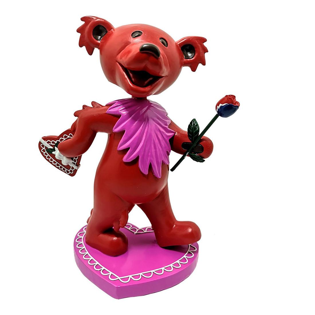 GD Bobblehead Dancing Love Bear Red