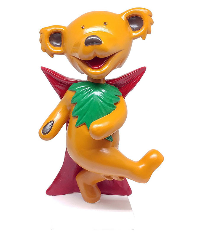 Grateful Dead Bobble Head Dancing Dracula Bear Orange