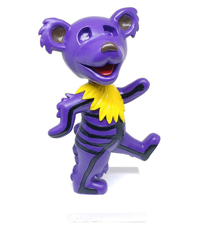 GD Bobblehead Dancing Skeleton Bear Purple