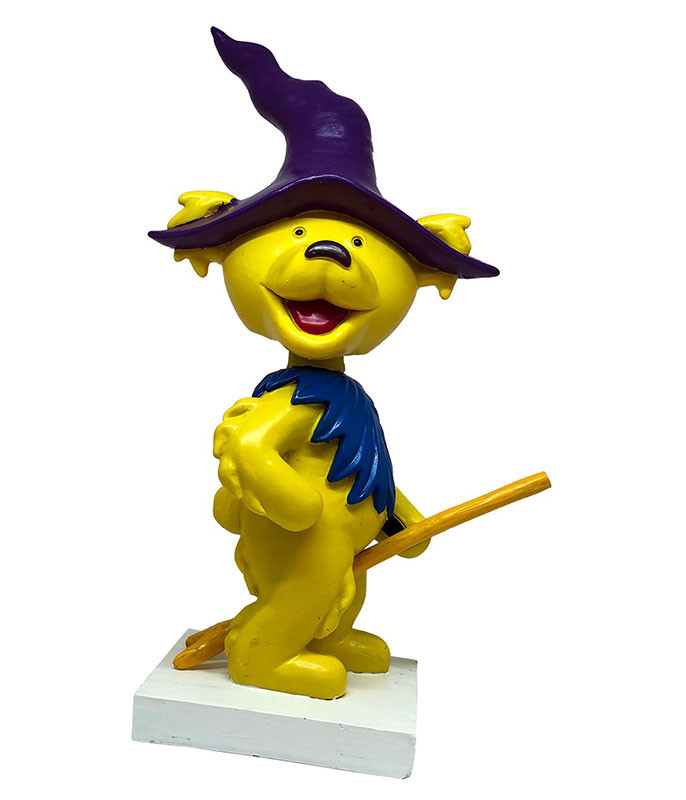 Grateful Dead Bobble Head Dancing Witch Bear Yellow