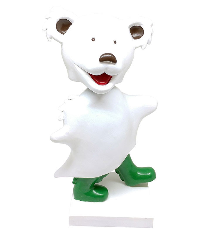 Grateful Dead Bobblehead Dancing Ghost Bear White