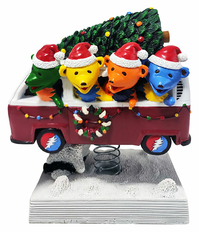 Grateful Dead Bobble Head Dancing Bears Holiday Van