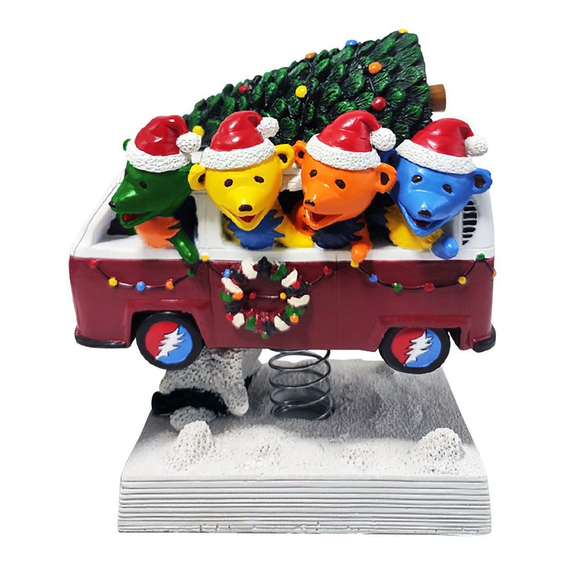 GD Bobblehead Dancing Bears Holiday Van