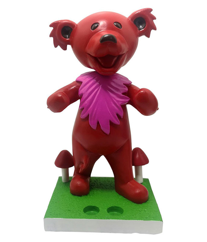 Grateful Dead Bobblehead Dancing Bear Red Holder