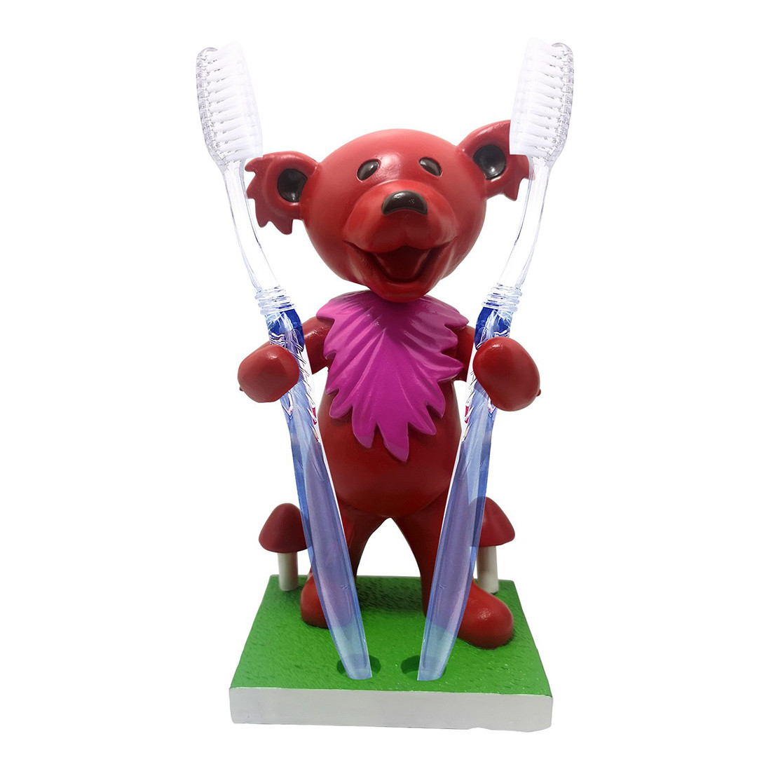 GD Bobblehead Dancing Bear Red Holder