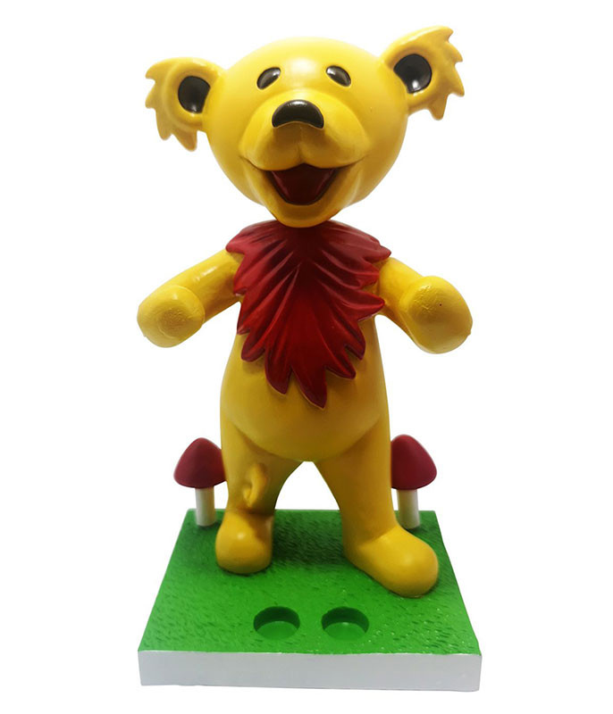 Grateful Dead Bobblehead Dancing Bear Yellow Holder