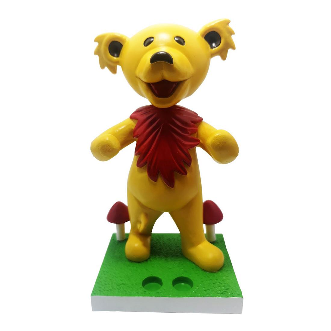 GD Bobblehead Dancing Bear Yellow Holder