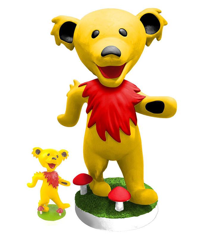 Grateful Dead Bobblehead 24in Dancing Bear Yellow