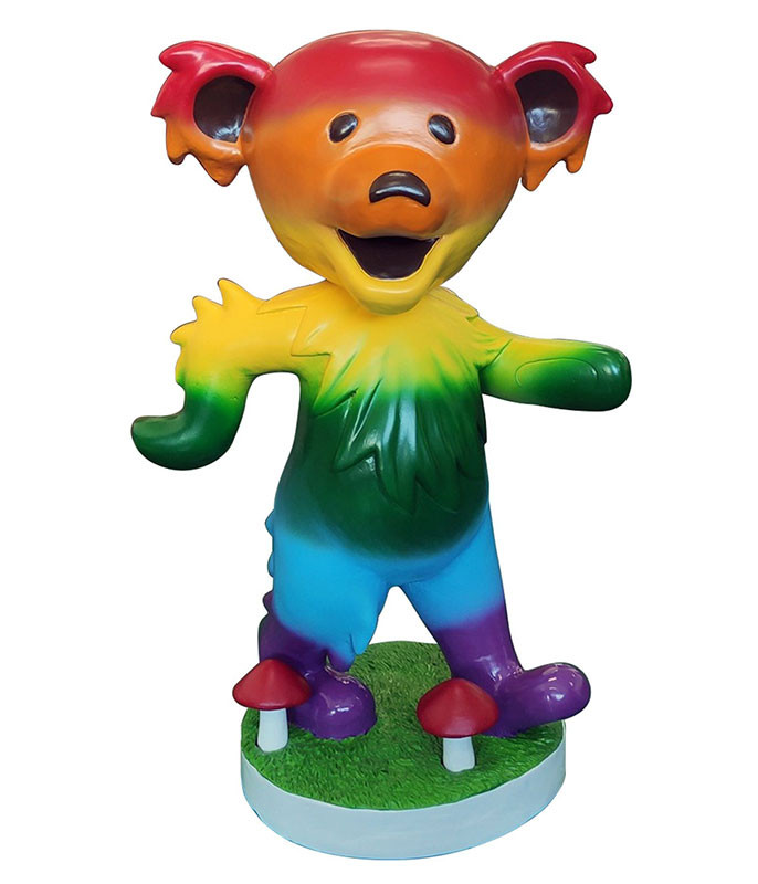 Grateful Dead Bobblehead 24in Dancing Bear Rainbow