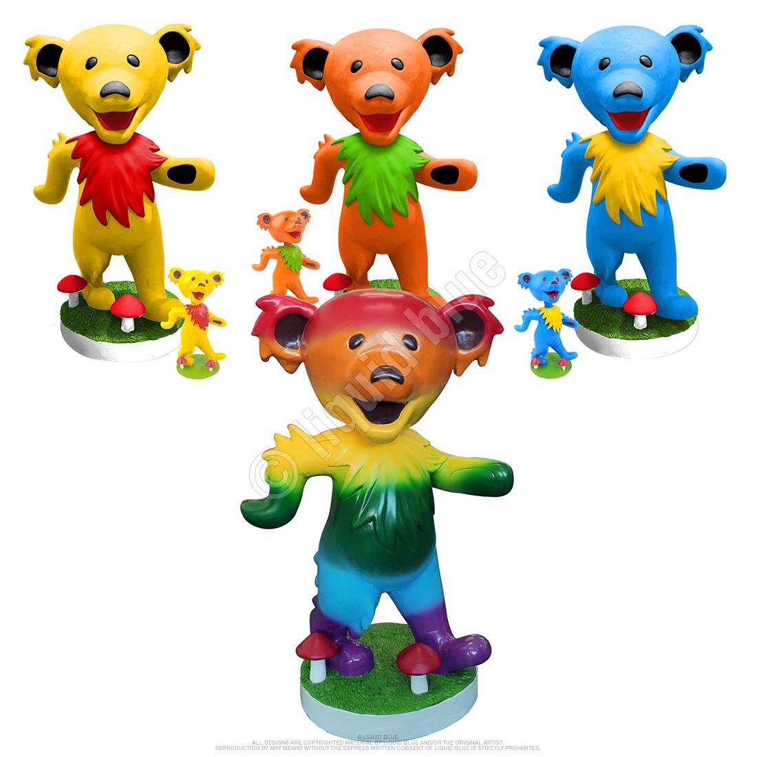 GD Bobblehead 24in Dancing Bear Rainbow