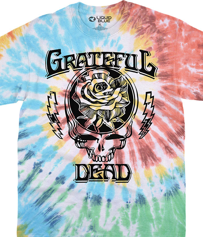 Grateful Dead Roosevelt Tie-Dye T-Shirt Tee Liquid Blue