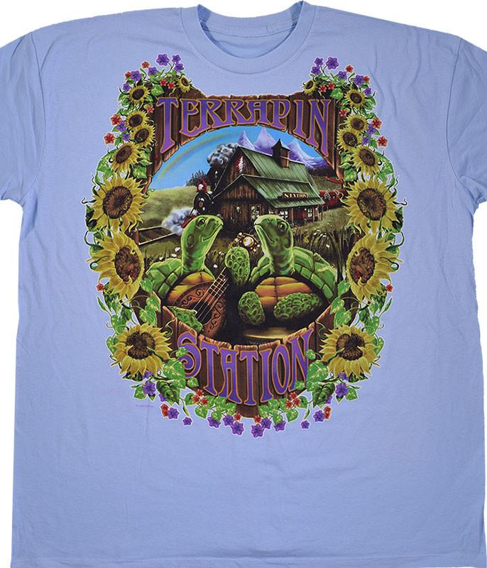 Grateful Dead Terrapin Station Blue Athletic T-Shirt Tee Liquid Blue