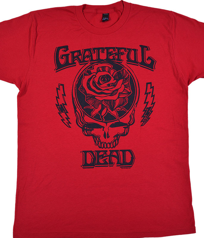 Grateful Dead Roosevelt Red Athletic T-Shirt Tee Liquid Blue
