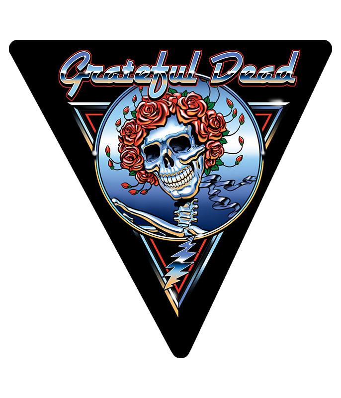 Grateful Dead Triangle Blue Bertha Chrome Sticker Liquid Blue