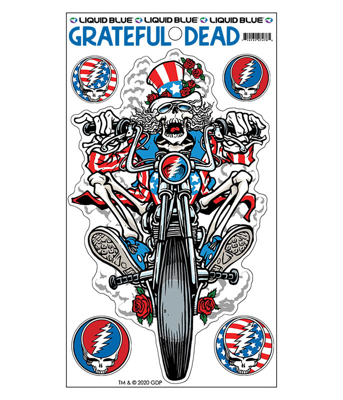Grateful Dead Moto Sam Multi Sticker Liquid Blue