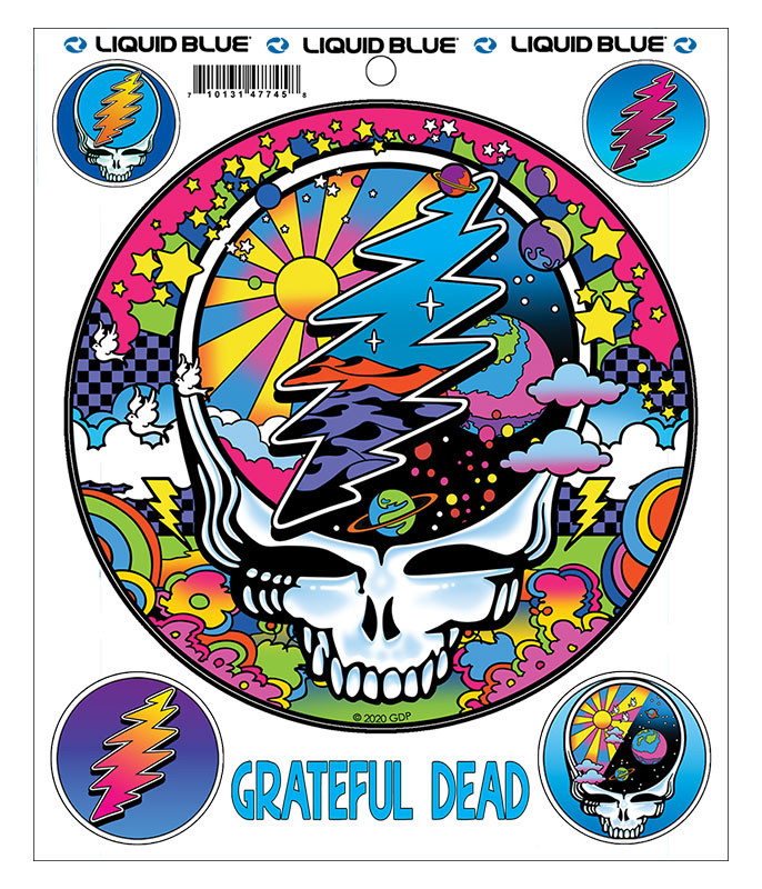 Grateful Dead Mod Max SYFace Multi Sticker Liquid Blue