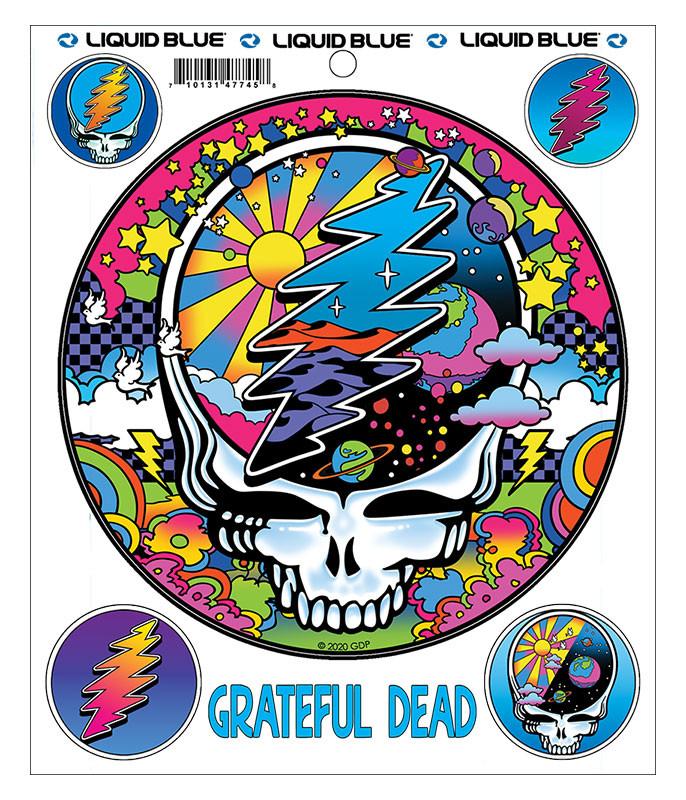 Grateful Dead Mod Max SYFace Multi Sticker Liquid Blue
