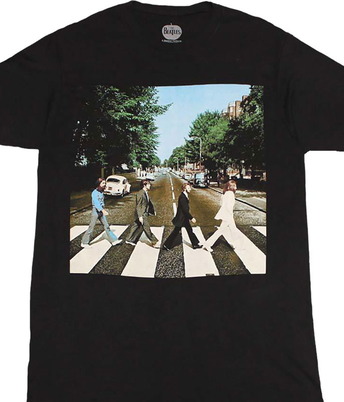 Beatles Abbey Road Black T-Shirt Tee