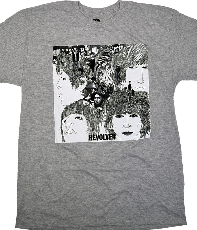 Beatles Revolver Grey Poly-Cotton T-Shirt Tee
